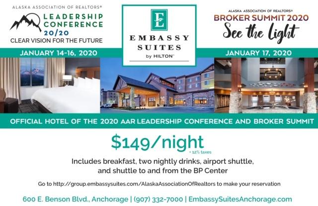 Embassy Suites Alaska Realtors Rate